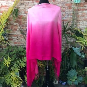 Pashmina and silk Pink shawl